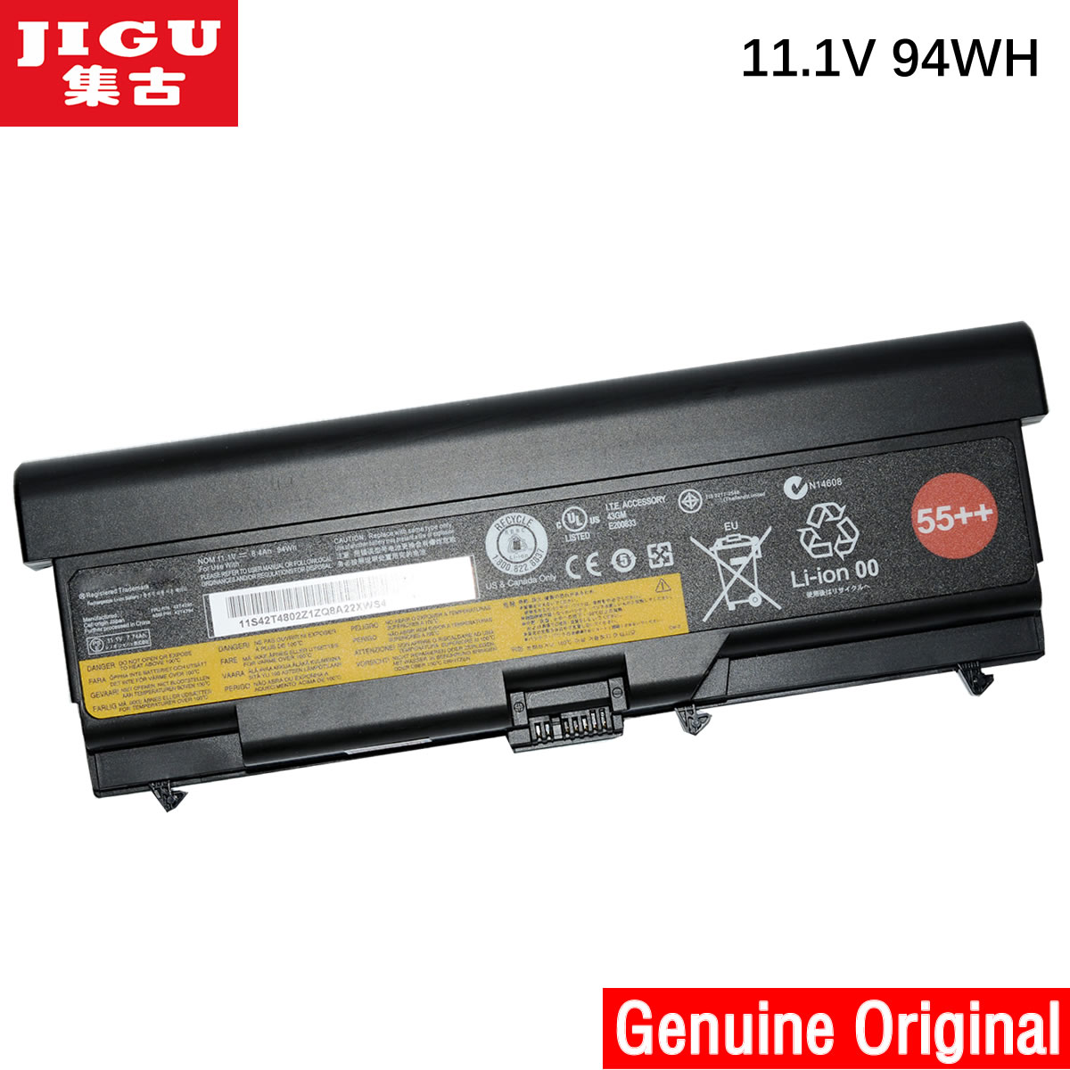 JIGU Original laptop Battery For Lenovo SL400 SL410 SL410k SL500 SL510 T410 T410i T420 T420i T520 W510 W520 9cells jigu original laptop battery for lenovo for thinkpad sl400 sl410 sl410k sl500 sl510 t410 t410i t420 t420i t520 w510 w520