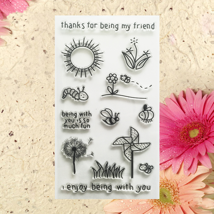 thanks for being my friends clear stamp for diy scrapbooking photo album transparent stamp for wedding gift  TM-035 lovely animals and ballon design transparent clear silicone stamp for diy scrapbooking photo album clear stamp cl 278