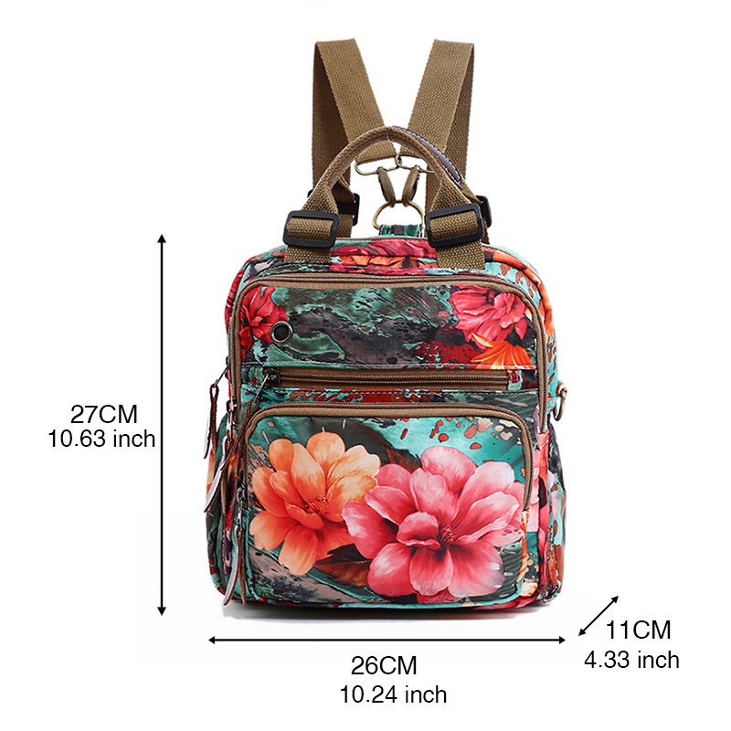 New Large Capacity Bags for Women 2019 Nylon Waterproof Female Bag Backpack Laptop Backpack Multifunction Travel Bag for Women in Backpacks from Luggage Bags
