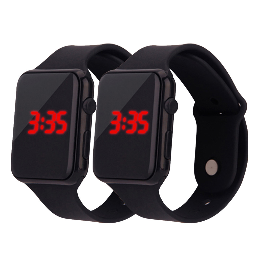 Simple Children's Watch Digital LED Electronic Watch Student Boy Wristwatch Silicone Band Strap Men Women Sport Casual Clock