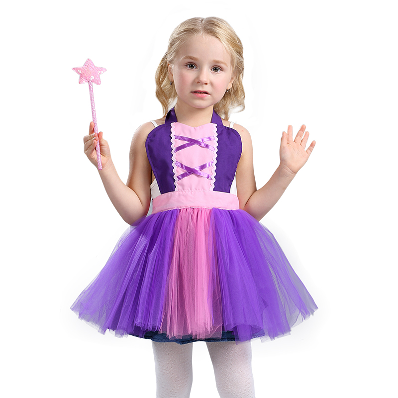 Kids Rapunzel Tutu Apron Costume Fun For Special Occasion Or Birthday Party Dress Up The Ties Adjust To Size