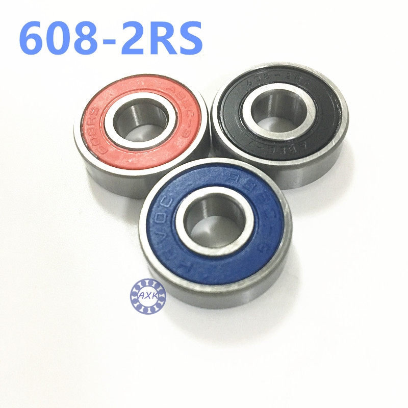 Free Shipping 608-2RS Skateboard Bearings 8x22x7 Radial Ball Bearings 608 RS 608-2RS free shipping skateboard bearing 16pcs lot 608rs 608 2rs 608 ilq 9 pro bearings cover rubber seals