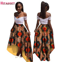 2017 Wholesale Africa Skirt for Women Bazin Riche Style Clothing Skirt Custom Africa Unique Original Plus Size 6xl Skirt WY527