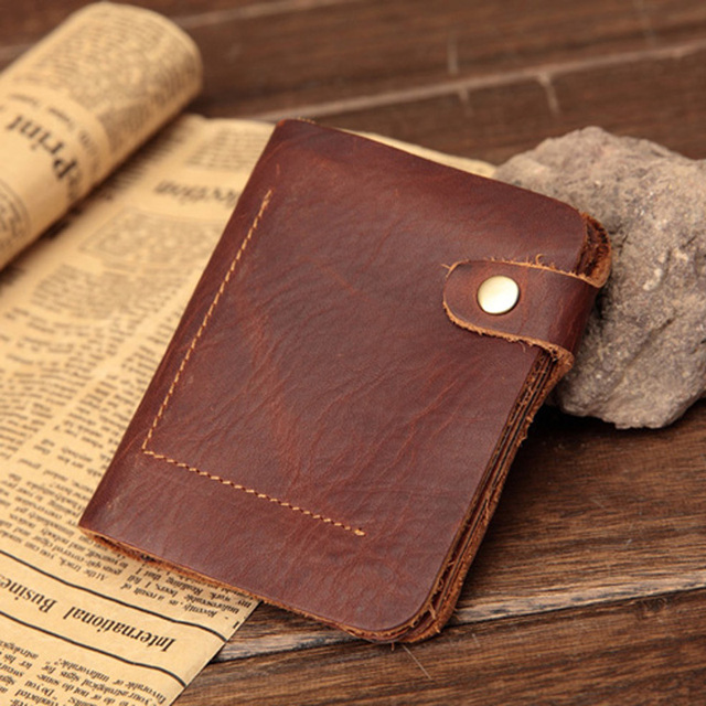 f92fd15b66c4 Special Design Men s Genuine Leather Wallet High Quality Cowhide Leather  Purse Men s real leather wallet with clasp raw natural