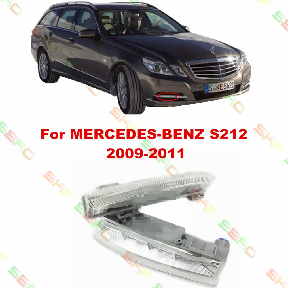 For MERCEDES-BENZ E-CLASS T-Model S212  2009/10/11  car styling fog light  led Daytime running lights  1 SET auto fuel filter 163 477 0201 163 477 0701 for mercedes benz