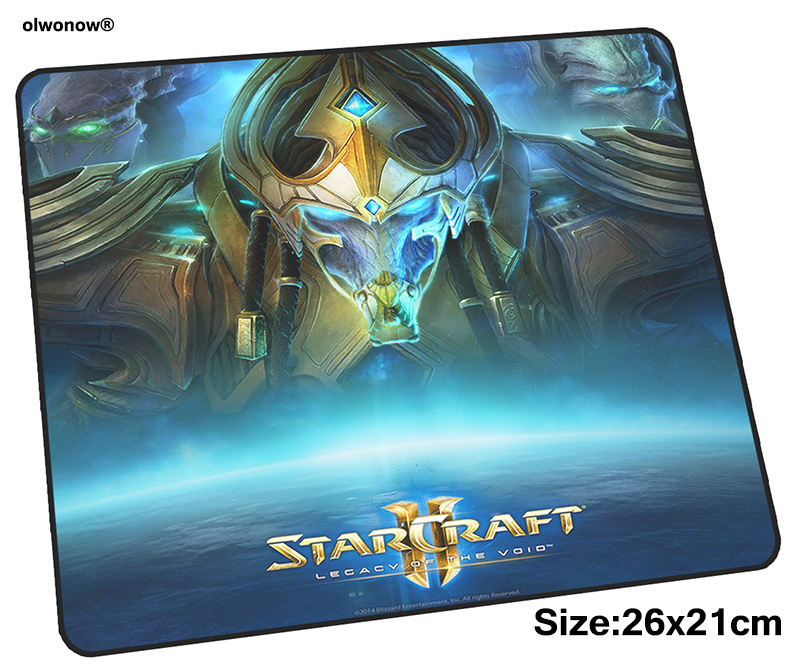 Protoss mousepad 26x21cm gaming mouse pad gamer mat High quality game computer desk padmouse keyboard Halloween Gift play mats