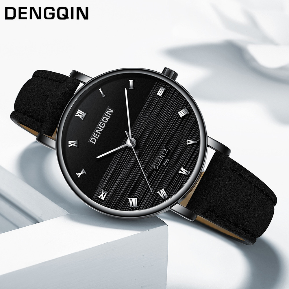 Top Brand Fashion Ladies Watches Leather Female Quartz Watch Women Thin Casual Strap Watch Reloj Mujer Marble Dial #YT223