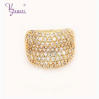 High Quality Hot Sale New Fashion Copper Charming Vintage Gold Rings Cubic Zircon Jewelry For femme