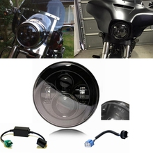 7 «LED Фара Для Harley Davidson Мотоциклов Проектор Daymaker HID Свет Лампы Wrangler Джипы СВЕТОДИОДНЫЕ Фары