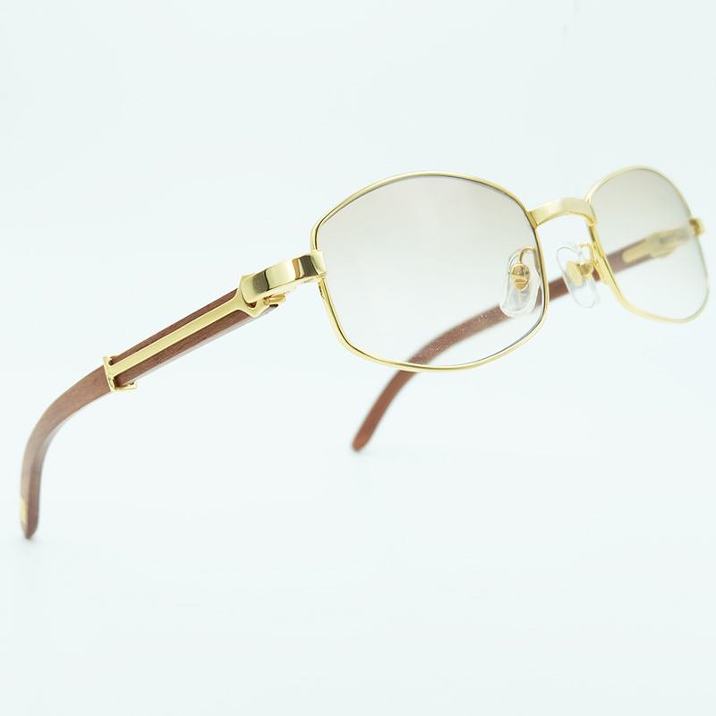 Occhiali Da Sole di lusso Degli Uomini di Legno Marrone Carter Occhiali da sole Uomo Occhiali Da Sole Del Progettista di Marca Occhiali Da Sole Quadrati Corno di Bufalo Occhiali In Legno