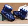 2016 nueva manera del invierno caliente de espesor niños bebé zapatos de los niños de corea bling girls botas de nieve CB1-1 en stock
