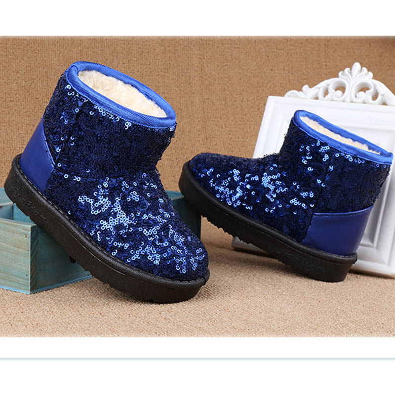 2017 winter new fashion thick warm children baby kids shoes korean bling girls snow boots CB1-1 in stock