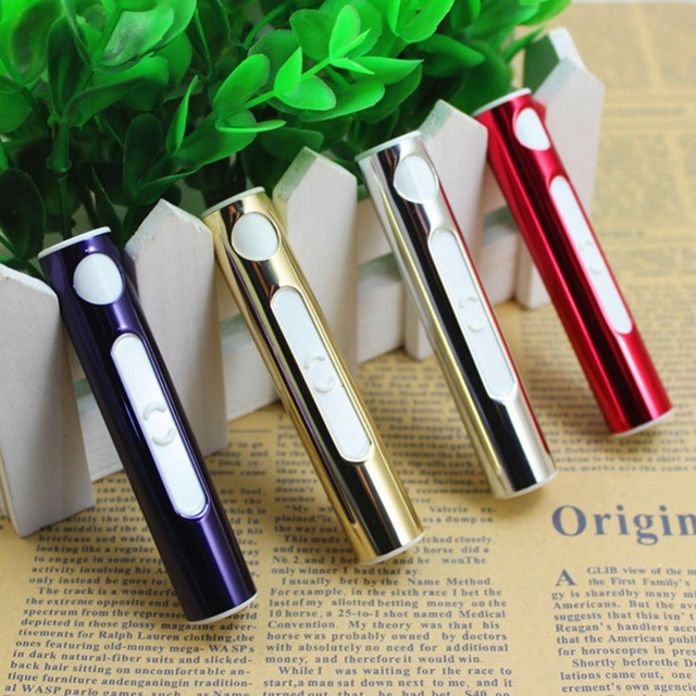 New Creative Mini USB Cigarette Cigar Electronic Arc Lighter Recharge Windproof Gift