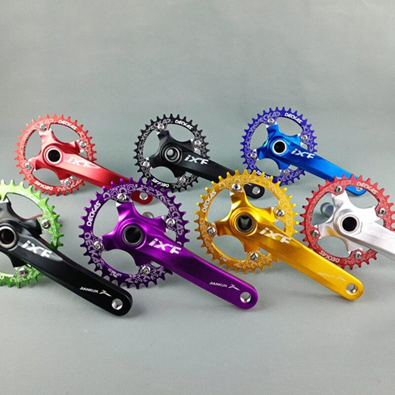 Ixf bcd104 мм ЧПУ untralight велосипед шатуны MTB/дорожный велосипед рукоятки комплект с BB 5 видов цветов рукоятка для велосипеда