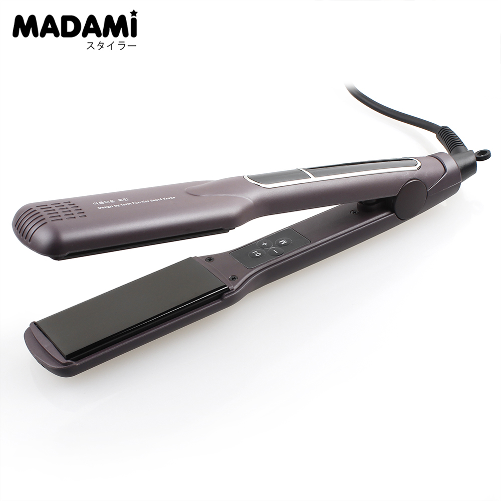 ФОТО 10pcs Hair Flat Iron Wide Plate Ceramic Hair Straightener 1 1/2 inch Dual Voltage High-end Advanced Styler