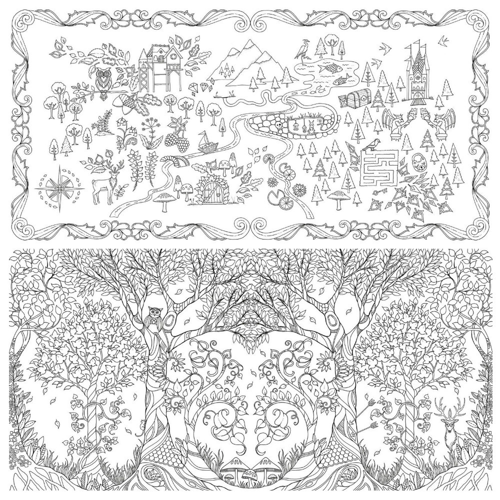 85 Enchanted Forest Coloring Book Sg