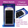 1 Tray/Lot Ellipse Flat False Eyelash Extensions Soft Thin Tip Flat Roots New Products Saving Time Recomended by Technicians