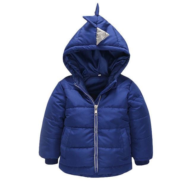 Boys pure color Warm Hooded Coat