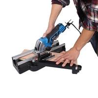 1pc Handheld Electric mini circular saw 500W mini power saw with House hold Metal Pulley Rail circular saw Electric Saw