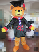 Graduation Bear Mascot Costume Halloween Gift Party Costume Christmas Costume