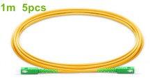 1 м/5 шт. SC APC волоконный патч корд G657A волоконный соединительный кабель Simplex 2,0 мм ПВХ SM нечувствительный оптический кабель FTTH