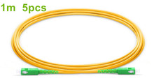Buy 1m/5pcs SC APC Fiber Patchcord G657A Fiber Patch Cable Simplex 2.0mm PVC SM Bend Insensitive FTTH Optical Cable directly from merchant!