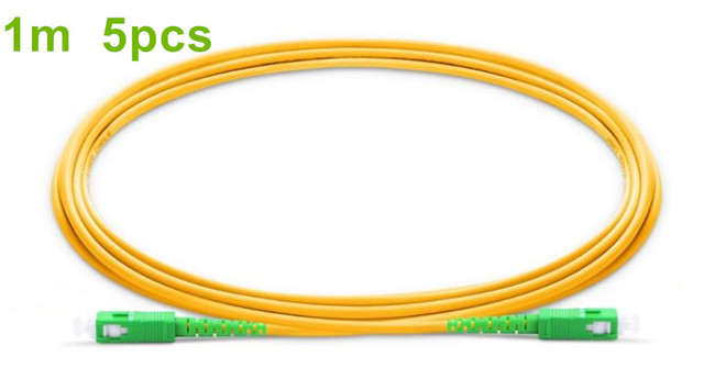 1m/5pcs SC APC Fiber Patchcord G657A Fiber Patch Cable Simplex 2.0mm PVC SM Bend Insensitive FTTH Optical Cable