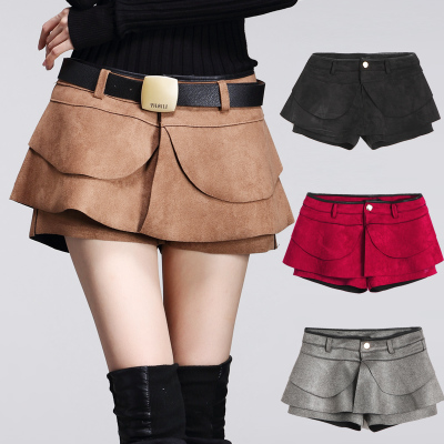 New Fashion Damen Shorts Röcke Rüschen Shorts Winter Frühling Mini Shorts Casual Shorts 8299