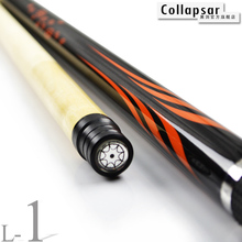 Купить с кэшбэком Collapsar 2018 New Billiard Pool Cue L01 58Inch 2PC Maple Stick Radial Pin 19oz 20oz Free ship