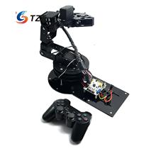 Unassembled 6 DOF Full Set Mechanical Arm with Clamp Claw Rotating Mechanical Robot with Servos & Controller