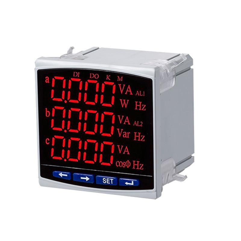 CJ 3D3N LED display 3 phase multifunction panel meter 3 phase ampere voltage Hz Power factor