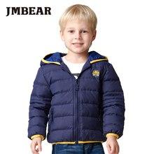 JMBEAR boy snowsuit kids parka 2-6 years little boys hooded down jacket children's thick warm coat children outerwear winter