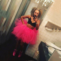 Hot Pink Sexy Women's Skirts Ball Gowns Cocktail Skirts Tiered Ruffle Custom Made Formal Party Prom Skirts New Coming