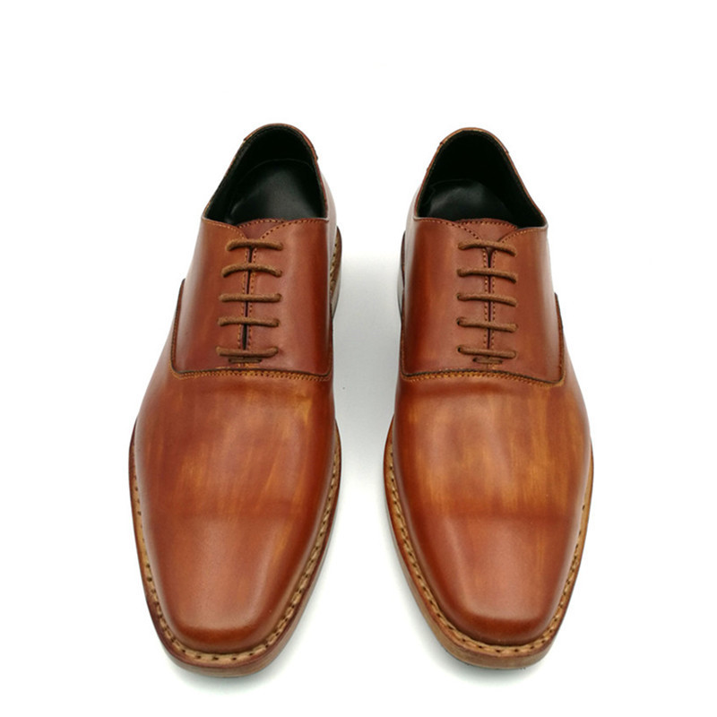 Promotion Men Shoes Genuine Leather Handmade Goodyear Dress Wedding Shoes Fast Express Delivery