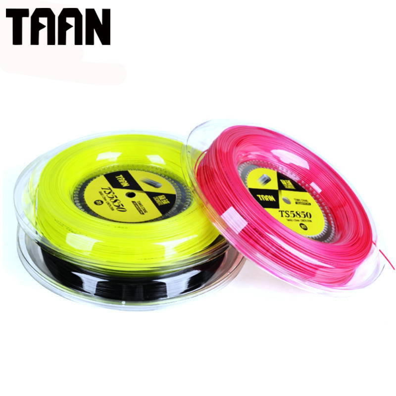 TAAN 1.20mm Ten Fusion Poly Cyclo Decagonal Polyester Tennis Training String one Reel Control TT5850 1 reel taan 1 15mm ts5600 tennis racket string fusion poly durable tennis training power string 200m