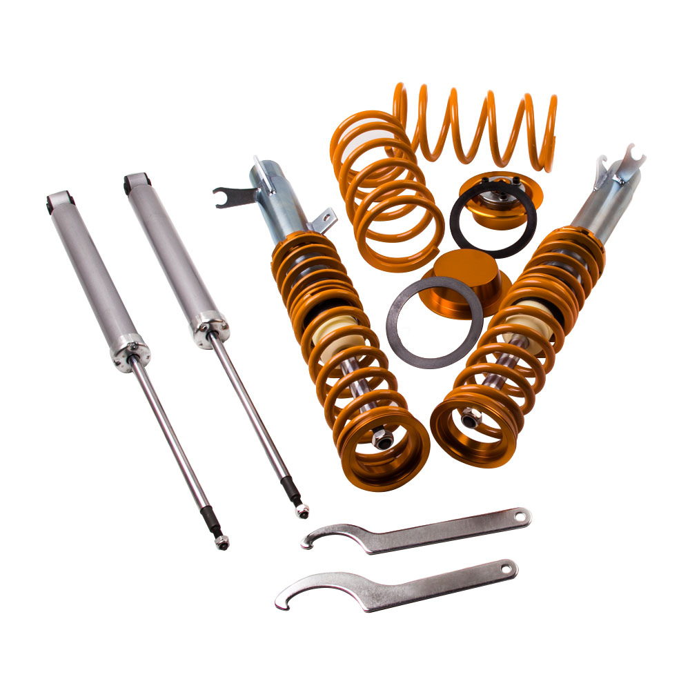 COILOVER SUSPENSION SPRING FOR FORD FOCUS Mk1 98 04 1.8 16V FRONT & REAR SHOCK ABSORBER Coilovers FREE SHIPPING