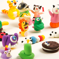 DIY 24PCS Magic Polymer Clay Sets Moldable Plasticine Air Dry Fimo Kits with Tool Soft Modeling Sculpey Toy for Kids Gift NT03