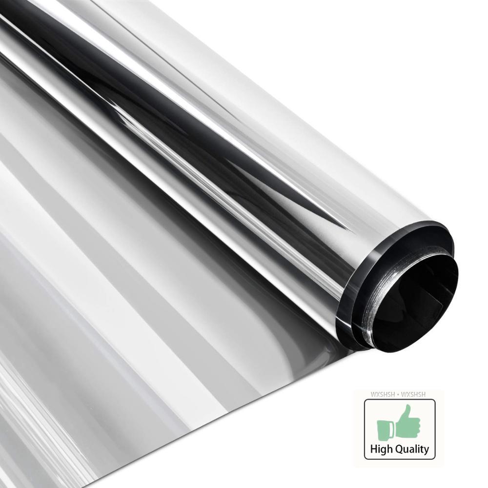Film solaire de 80x300 Cm | Film miroir unidirectionnel, contrôle de la chaleur, Anti-éblouissement, Anti-UV, teinte de fenêtre