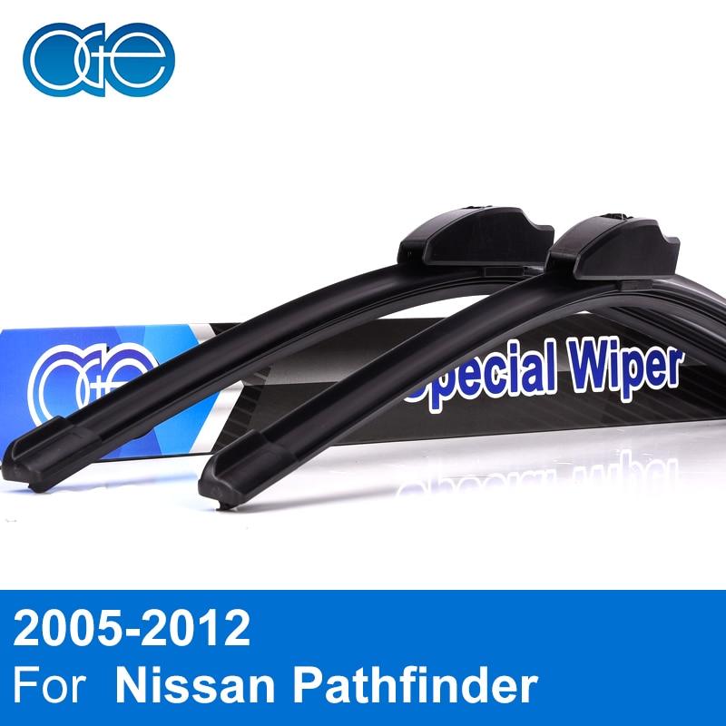 Oge Front Rear Wiper Blades For font b Nissan b font Pathfinder 2005 2012 High Quality