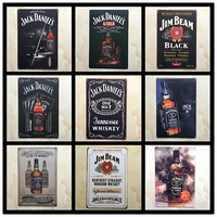 Vintage Metal Painting Random delivery 10PCS bundled sale Tin Signs Wall Painting Art Wall Stickers Cafe Bar Home Decor 20x30 CM