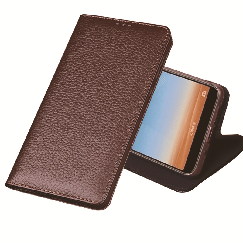 YM06 Magnetic Genuine Leather Phone Bag For Motorola Moto Z2 Play Case For Motorola Moto Z2 Play Phone Case Free Shipping