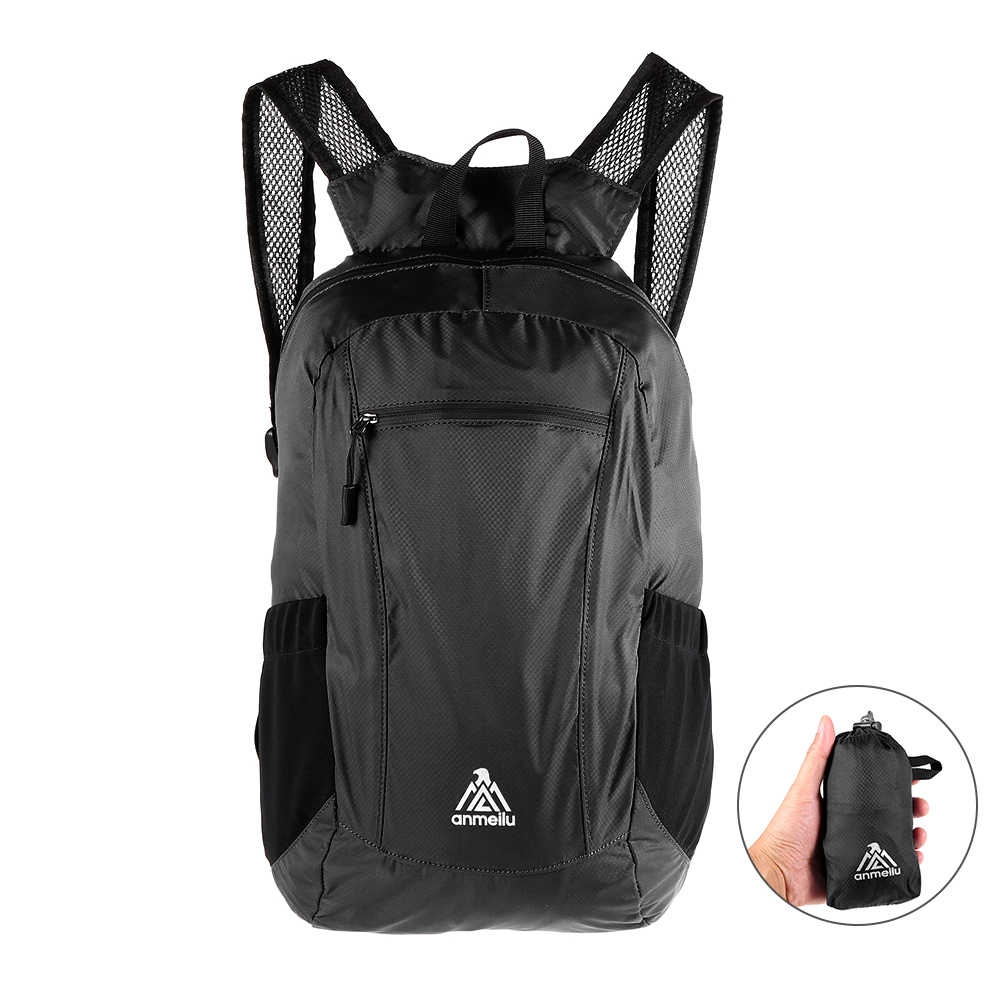dc4eb44ce0 ANMEILU 18L Ultralight Foldable Backpack Waterproof Sport Backpack Folding  Women Men Travel Outdoor Camping Hiking Cycling