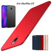 Capa de telefone matte fosco magro para coque oneplus 8t 8 7t 7 pro 6t 6 5 5t disco plástico capa traseira fundas anti-skid
