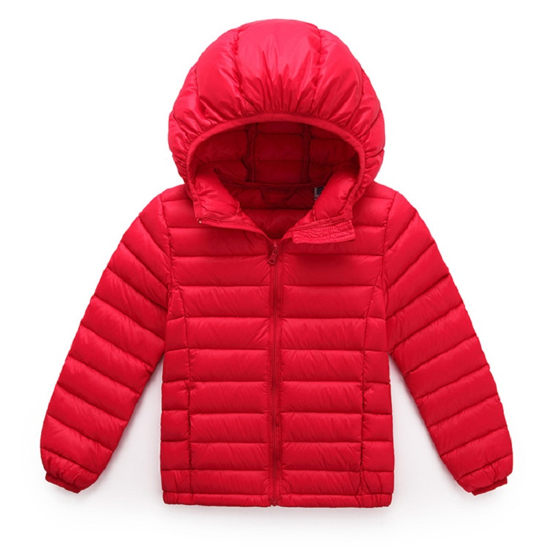 ФОТО 2016 Hot Sale Hooded Girls Boys Winter Down Coat Long Sleeve Boys Winter Jacket WindProof Children Kids Winter Down Jacket