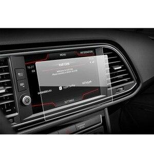 Image 5 - Ruiya protetor de tela do carro para leon x perience 8 Polegada 2017 gps navegação touch center display auto interior adesivos acessórios