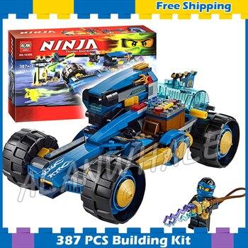 386 Uds 2016 Bela 10396 Ninja Jay Walker una juguetes de bloques de construcción ladrillos las cifras de los niños educación Compatible con Lago