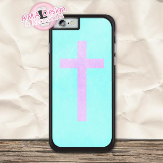 pastel-cross-with-mint-fontbclassic-b-font-case-for-fontbapple-b-font-iphone-x-8-7-6-6s-plus-5-5s-se