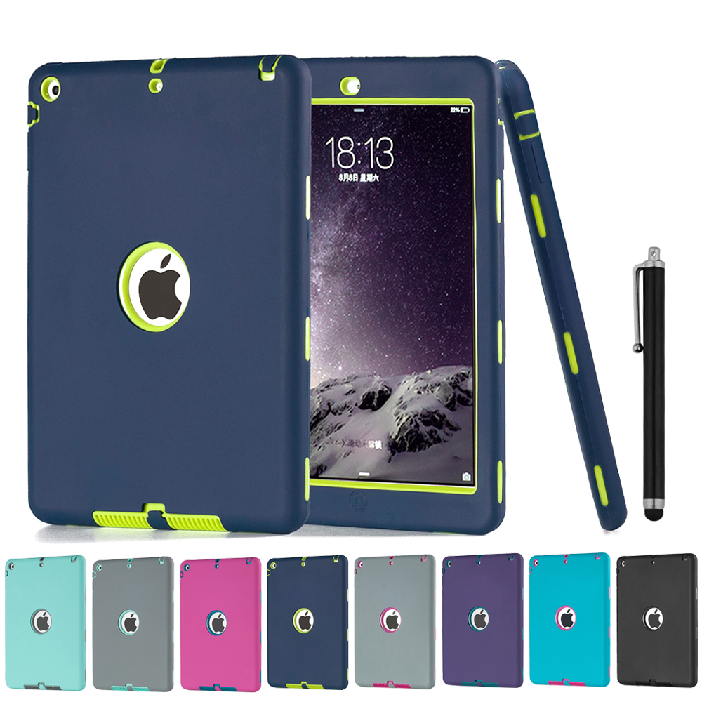 Shockproof Silicone Case for iPad Air 1 Cover Funda Kids Safe Armor Heavy Duty Rubber Anti-Scratch Cover for iPad Air 1 + Gifts hmsunrise case for apple ipad air 1 kids safe shockproof heavy duty silicone hard cover for ipad 5 case with wrist strap