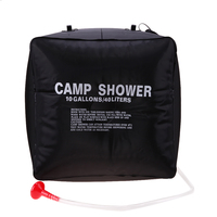 40L Foldable Water Bag Solar Energy Heated Camp PVC Shower Bag Outdoor Camping Travel Hiking Climbing BBQ Picnic Water Storage