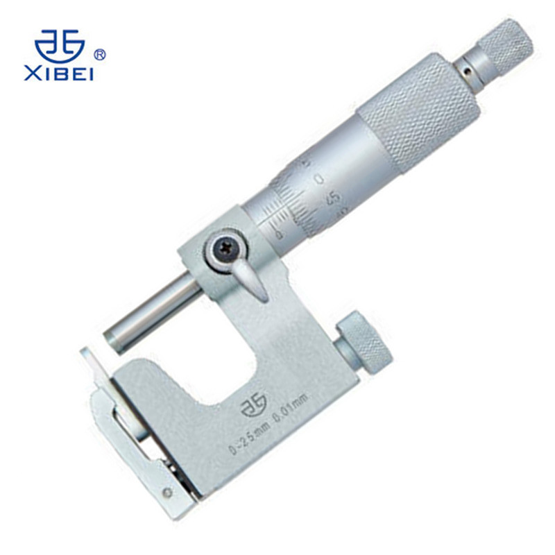 Outside thickness micrometer measuring range 0 25mm/0.01 thread micrometer economy multipurpose measuring tool|thickness micrometer|thread micrometers|outside micrometer - title=